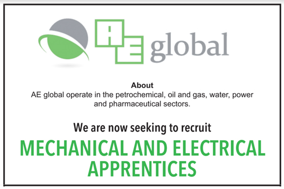 Mechanical and Electrical Apprentices Required